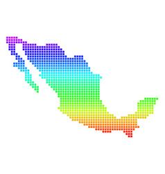 Colored pixel mexico map vector