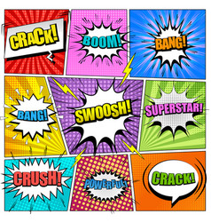 Comic book bright background vector