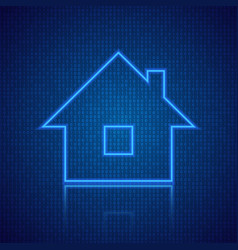 Concept of a digital smart home vector