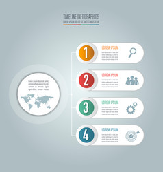Creative concept for infographic timeline vector