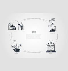 crm - crm feedback opinion review vector image