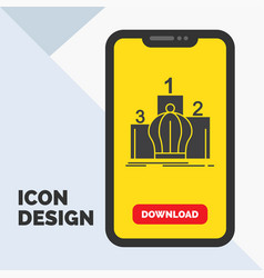 Crown king leadership monarchy royal glyph icon vector