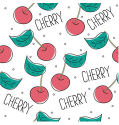 cute cherry seamless pattern good for textile vector image