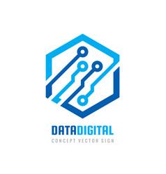 Data digital electronic technology - logo vector