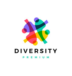 Diversity people family together human unity chat vector
