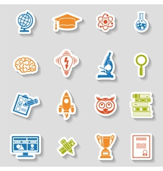 Education Icon Sticker Set vector image
