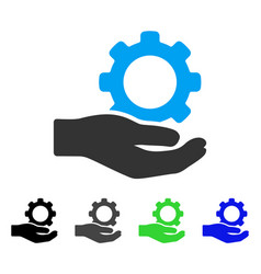 engineering service gear hand flat icon vector image
