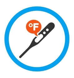 Fahrenheit Temperature Rounded Icon vector