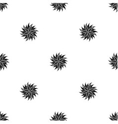 flower pattern seamless black vector image