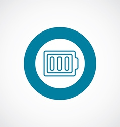 Full battery icon bold blue circle border vector
