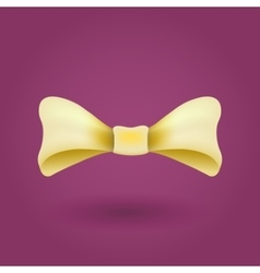 Glamorous 3d bow tie Yellow on violet vector