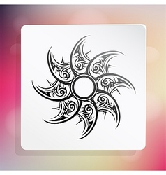 Graphic design element with ethnic ornament vector image