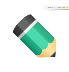 Green pencil icon vector image