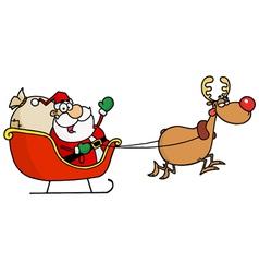 greeting with santa vector image