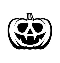halloween pumpkin with happy face vector image