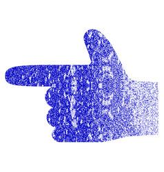 Hand pointer left grunge textured icon vector