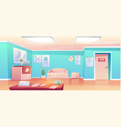 hospital hallway empty clinic corridor interior vector image