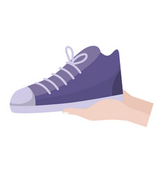 Isolated shoe design vector