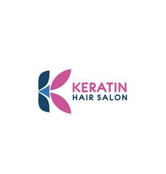 K letter icon for hairdresser salon vector