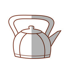 kettle teapot hot beverage line vector image