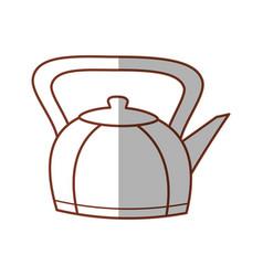 Kettle teapot hot beverage line vector