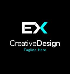 Letter ex creative business bold logo vector