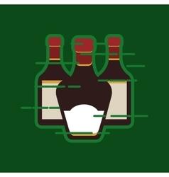 Liquor bottle image vector