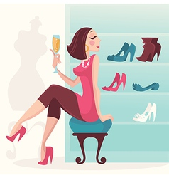 Luxury shopping vector