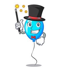 Magician blue balloon bunch design on cartoon vector