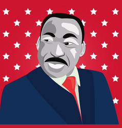 Martin luther king portrait vector