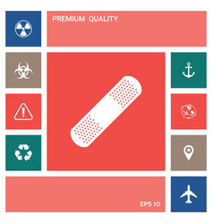 medical plaster adhesive bandage icon element vector image