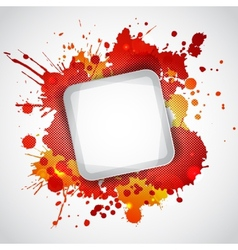 Modern white frame with red blots vector image