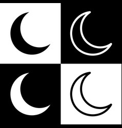Moon sign black and white vector