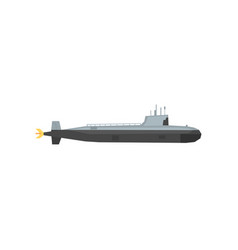 Navy submarine icon underwater military transport vector