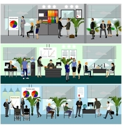 Office interior vector image