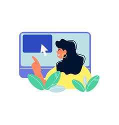 online education window composition vector image