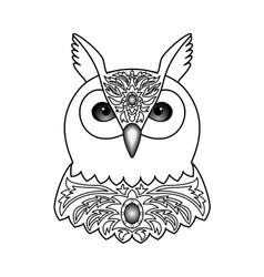 Ornamental White Owl vector image