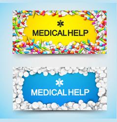 Pharmacy horizontal banners vector