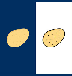 potato food icons flat and line filled icon set vector image