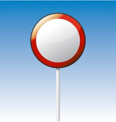 Prohibition road board vector image