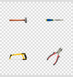 Realistic chisel arm-saw forceps and other vector