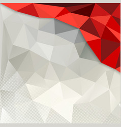 Red and white Polygon Background vector image