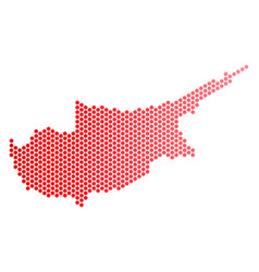 red dot cyprus island map vector image