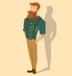 redhead man vector image