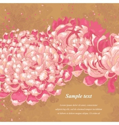 Romantic background with chrysanthemum vector image