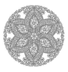round floral mandala vector image