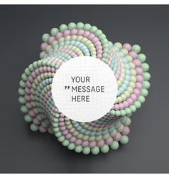 Round Frame with Place for Text Sphere 3d vector