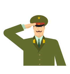 Russian military officer salute russia soldiers vector