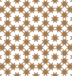 Seamless flower pattern in ethnic style vector image