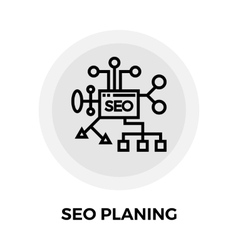 SEO Planing Line Icon vector image